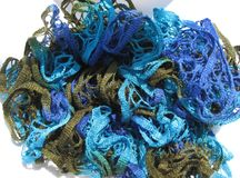 Blue netted background Royalty Free Stock Image