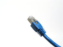 Blue network-cable Royalty Free Stock Photography