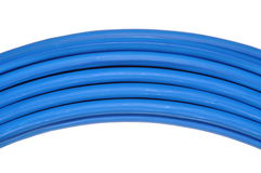 Blue network cable Royalty Free Stock Images