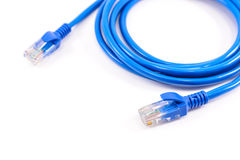 Blue network cable Stock Photography