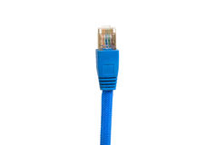Blue network cable isolated on white background Stock Images