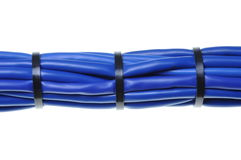 Blue network cables Royalty Free Stock Photos