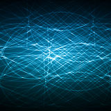 Blue Network Vector Design stock illustration