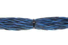Blue network wires Royalty Free Stock Photo