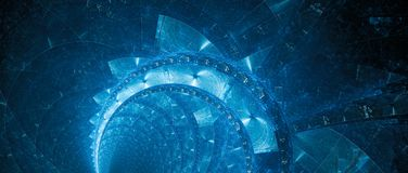 Blue new futuristic technology banner abstract background stock image