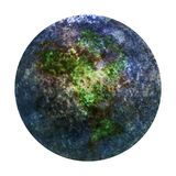 Blue New Planet Earth from space. 3D illustration. Stock Photography