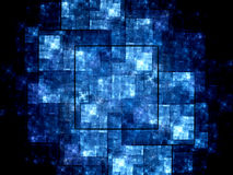 Blue new technology fractal Royalty Free Stock Photography
