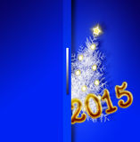 Blue  new year 2015  backgound . Stock Image