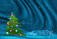 Blue New year background Stock Image