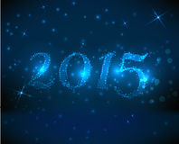 Blue new year background Stock Images