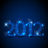 Blue New Year card 2012 Stock Images