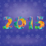 Blue new year numbers Stock Photos