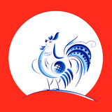 Blue New Year Rooster Royalty Free Stock Photos