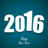 Blue New Year wishes with pins template. Vector eps 10 Stock Images