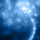 Blue New Year and Xmas illustration background Stock Photo