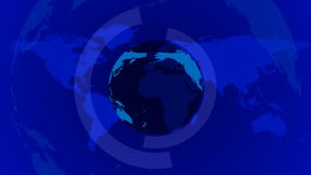 Blue News Earth Background Loop stock video