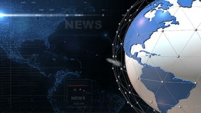 Globe News background generic Blue stock video