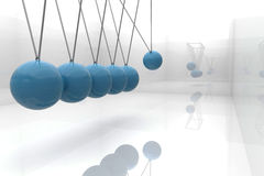 Blue newtons cradle Royalty Free Stock Photos
