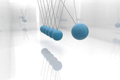 Blue newtons cradle Royalty Free Stock Photography