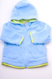 Blue nice baby jacket Stock Image