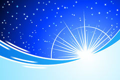 Blue Night. Vector illustration of blue night Royalty Free Stock Photo