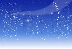 Blue night background vector illustration