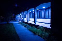 Blue, Night, Light, Architecture stock images