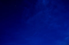 Blue Night Sky Background Royalty Free Stock Photography