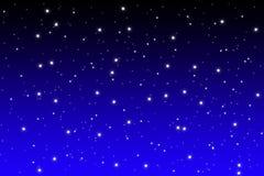 Blue night sky with shiny stars Stock Photo