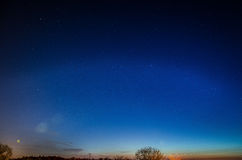 Free Blue Night Sky With Stars Royalty Free Stock Photography - 76809037