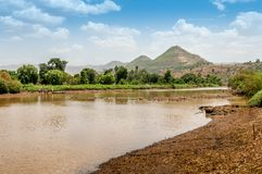 Blue Nile river Royalty Free Stock Image