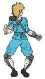 Blue ninja Stock Image