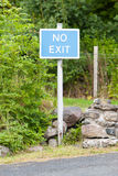 Blue No Exit sign Royalty Free Stock Photo