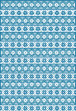 Blue Nordic Pattern Royalty Free Stock Photos