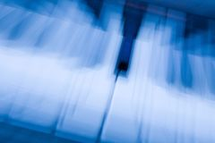 Blue Note. Music keyboard zoom blur Royalty Free Stock Photography