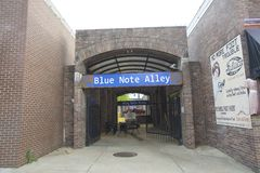 The Blue Note Alley Bar Stock Photo