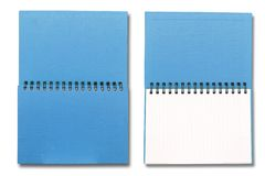 Blue note book Royalty Free Stock Images