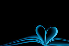 Blue Note Book And Shape Heart Stock Image
