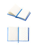 Blue note book isolated Stock Image