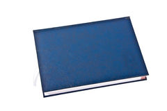Blue note book  on withe Stock Photography