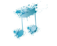Blue Note Vector and Splash Royalty Free Stock Photo