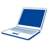 Blue notebook Stock Images