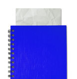 Blue notebook Royalty Free Stock Photos