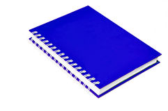 Blue notebook Royalty Free Stock Image