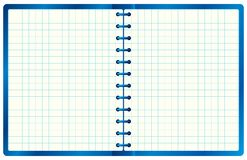Blue notebook. Royalty Free Stock Image