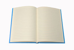 Blue Notebook , blank for your text Stock Image