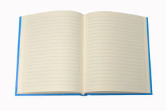 Blue Notebook , blank for your text Royalty Free Stock Images