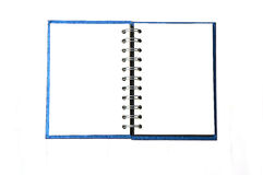 Blue notebook isolated on white. Background Royalty Free Stock Photography
