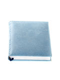 Blue notebook isolated on white. Stock Photos