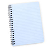 Blue notebook with path Stock Photography